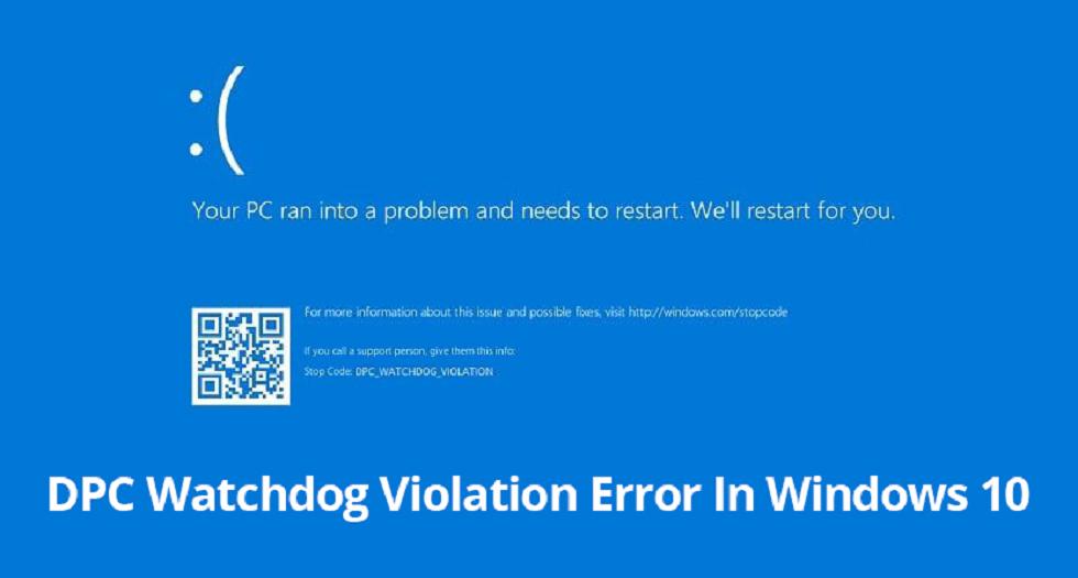 Watchdog Violation Error in Windows